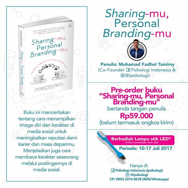 "Pre-Order buku ""Sharing-mu, Personal Branding-mu"""